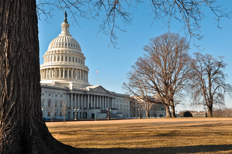 Capital Hill In Winter Royalty Free Stock Image