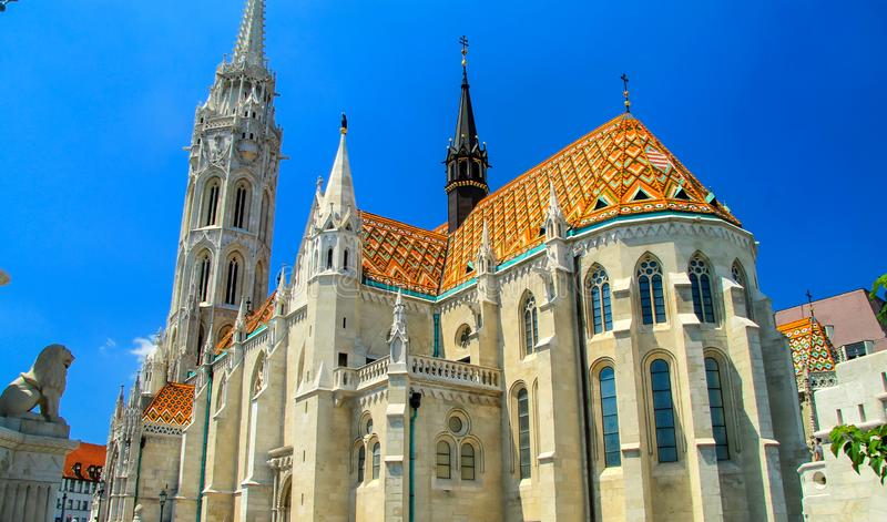 Capital of the Hungary Budapest. Hungarian architecture. Magnificent catholic St. Matthias Church in Gothic style. Europe stock photos