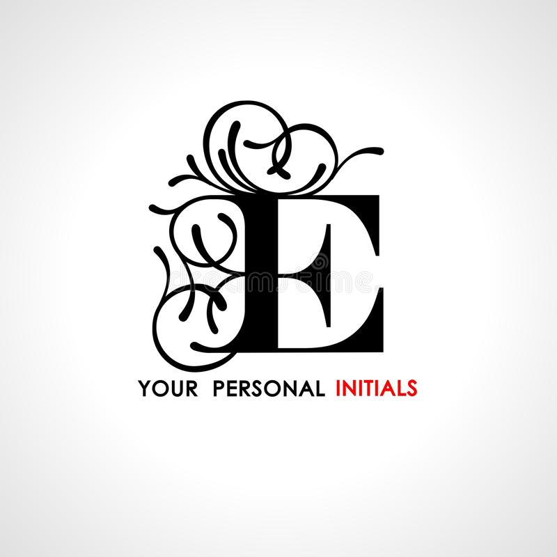 Capital letter e decorated with vegetable ornament template for capital letter e decorated with vegetable ornament template for your logo emblems monograms initials spiritdancerdesigns Choice Image