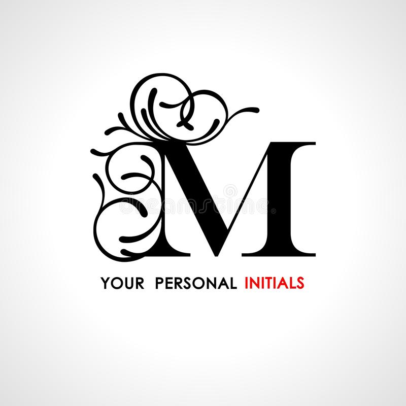 capital letter m decorated with vegetable ornament template for