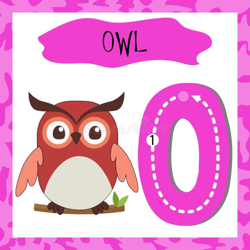 Capital letter O of the English alphabet for children stock illustration