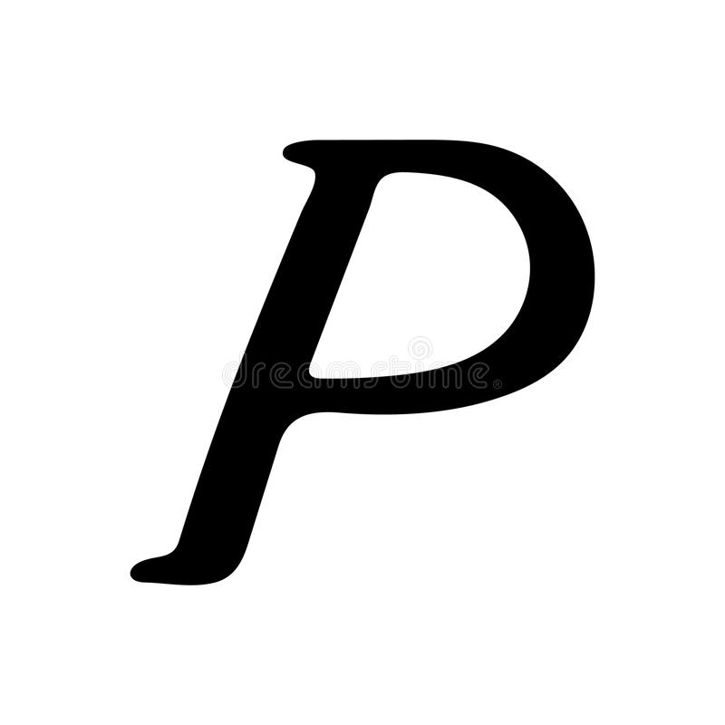 Download Capital Letter P Painted By Brush Stock Vector
