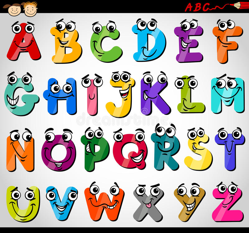 Free Capital Letters Alphabet Cartoon Illustration Royalty Free Stock Photography - 32964287