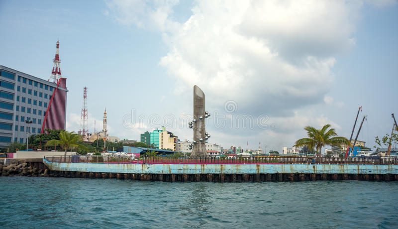 The capital of Maldives is Male. Maldives. Indian Ocean. Public Ferry. The capital of Maldives is Male. Public Ferry stock images