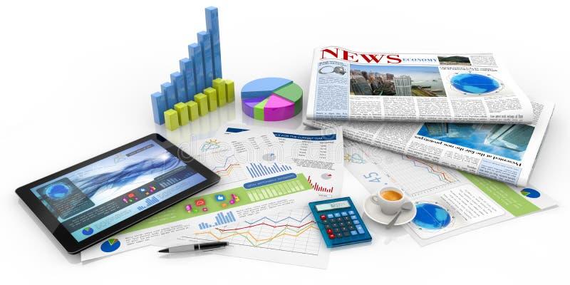 Capital management concept royalty free illustration