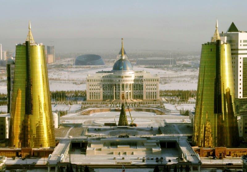 Capital moderna de Astana de Cazaquistão imagem de stock royalty free