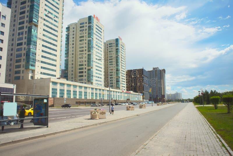 Capital nova da cidade Astana de Cazaquistão fotos de stock