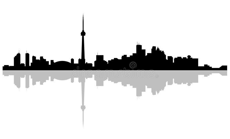 Capital of Ontario Skyline Toronto. Skyline of the city Toronto, Ontario Canada royalty free illustration