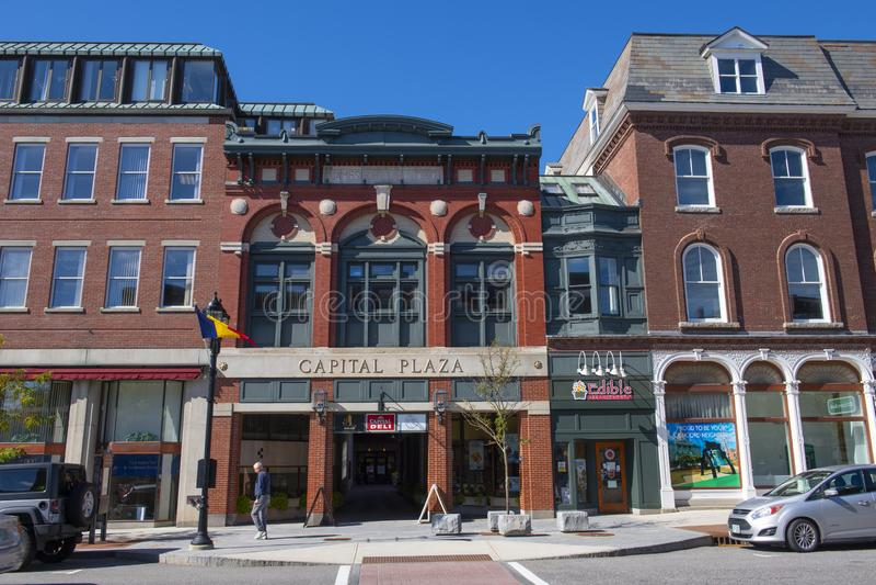 Capital Plaza, Concord, New Hampshire, Stany Zjednoczone Ameryki fotografia royalty free