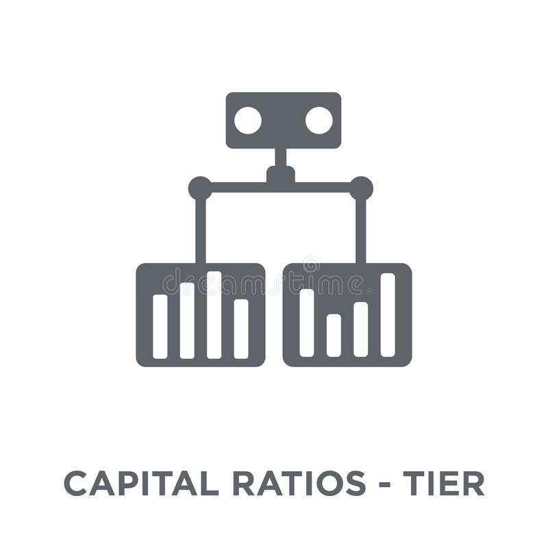 Capital ratios - Tier 1 and Tier 2 icon from Capital ratios Ti. Capital ratios - Tier 1 and Tier 2 icon. Capital ratios - Tier 1 and Tier 2 design concept from stock illustration