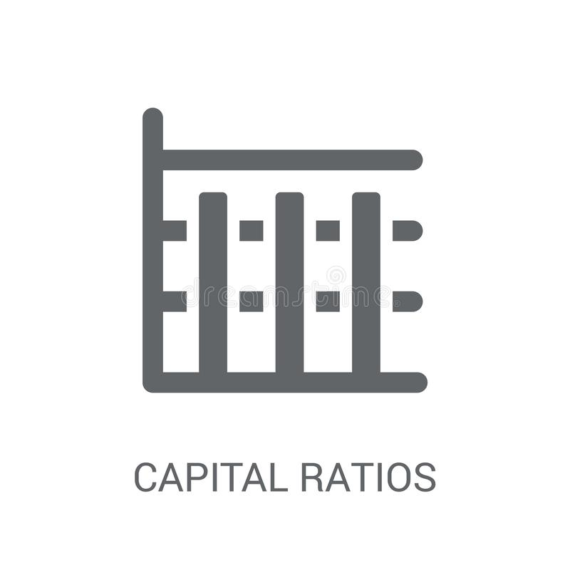 Capital ratios - Tier 1 and Tier 2 icon. Trendy Capital ratios -. Tier 1 and Tier 2 logo concept on white background from business collection. Suitable for use stock illustration