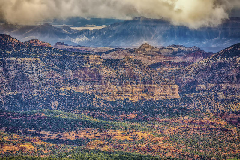 Capital Reef and Henry Mountains HDR royalty free stock photography