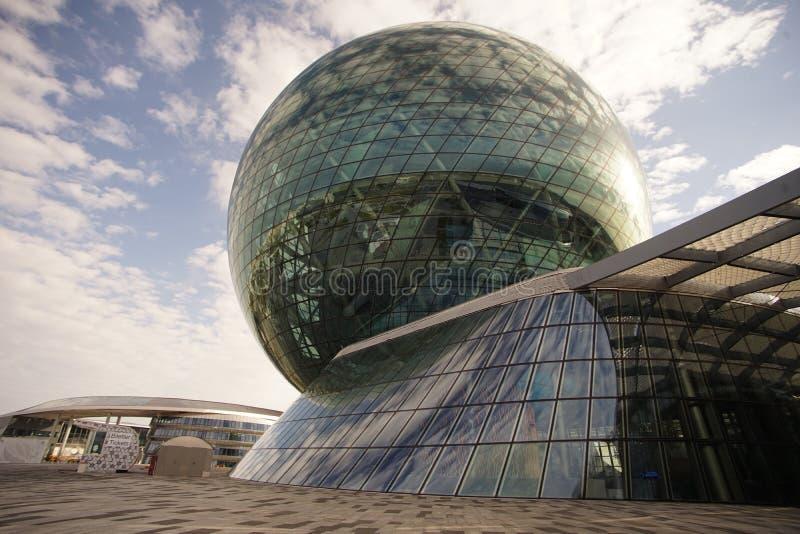 Capital representativa do distrito da expo da exposição das construções de Astana de kazakhstan foto de stock