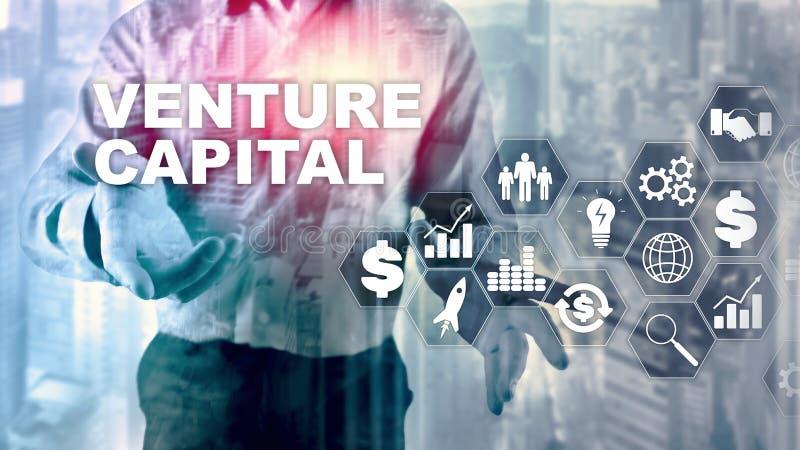 Capital-risque sur l'?cran virtuel Concept d'affaires, de technologie, d'Internet et de r?seau abr?gez le fond photo libre de droits