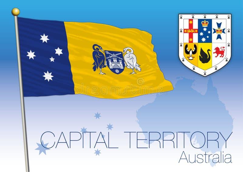 Capital Territory, flag of the state, Australia stock illustration