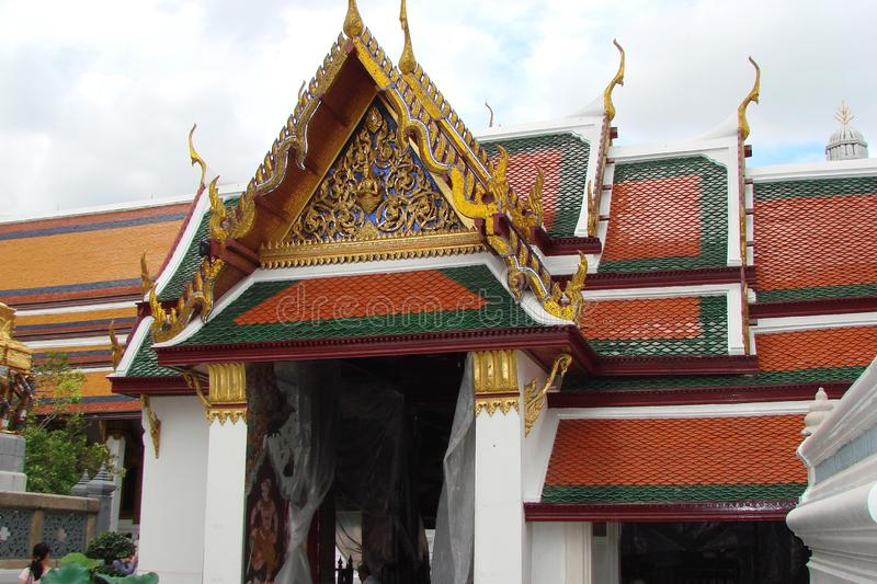 The capital of Thailand is the city of Bangkok. Beauty and greatness of the royal palace. The unique architecture of Thai royal buildings, combined with the royalty free stock images