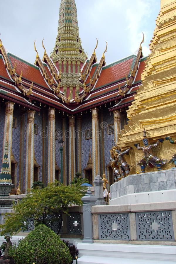 The capital of Thailand is the city of Bangkok. Beauty and greatness of the royal palace. The unique architecture of Thai royal buildings, combined with the stock images