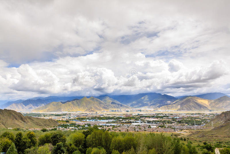 Capital Of Tibet Stock Photo