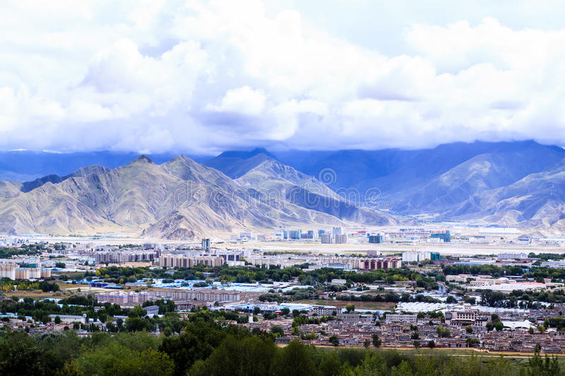 Download Capital of Tibet stock image. Image of desert, mountain - 36349821