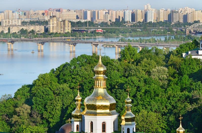 The capital of Ukraine, Kiev. Beautiful spring cityscape royalty free stock photos
