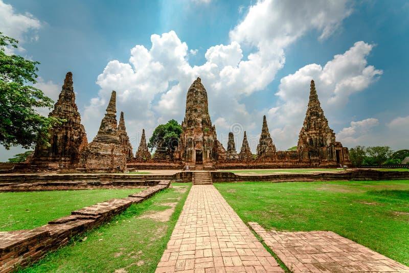Capitale antica del ayuttaya della Tailandia immagine stock libera da diritti