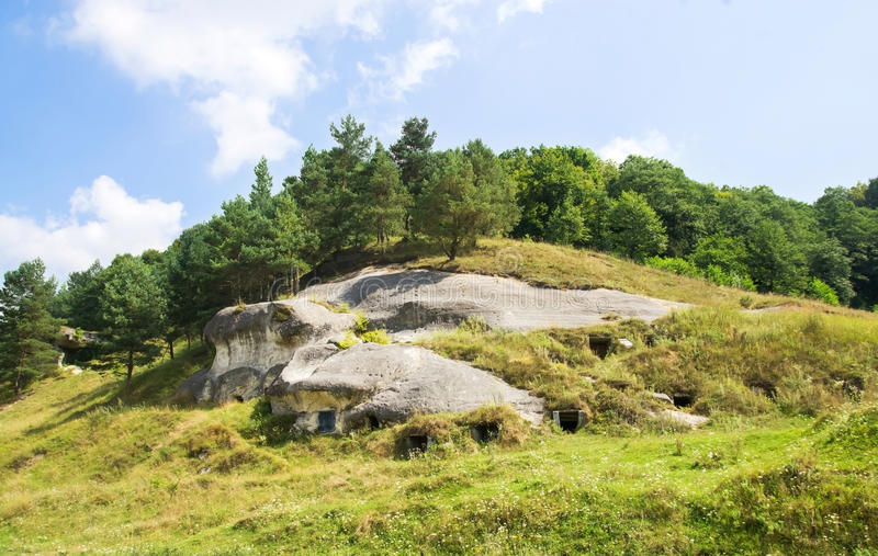 Capitale antique de caverne des Croates blancs image libre de droits