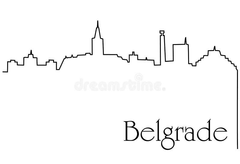 Capitale de Belgrade illustration de vecteur