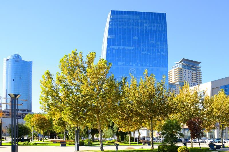Capitale de l'Azerbaïdjan moderne, ville Bakou image stock