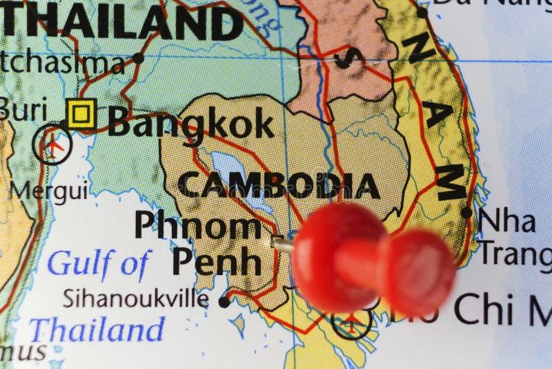Capitale de Phnom Penh du Cambodge image stock