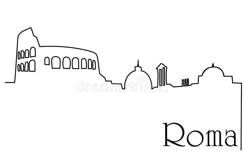 Capitale de Roma illustration stock