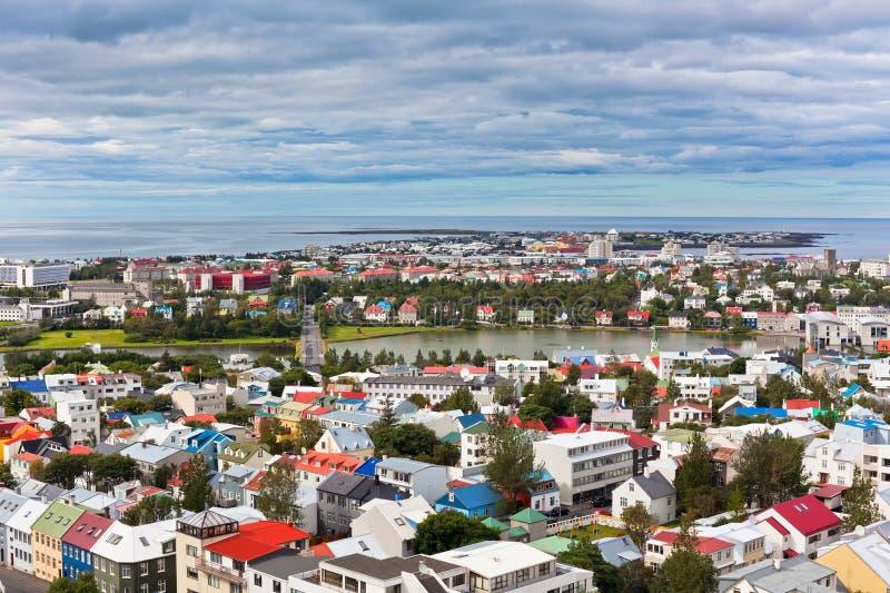 Capitale dell'Islanda, Reykjavik, vista immagini stock