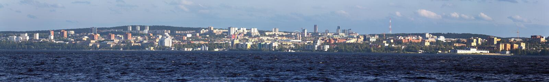 capitale della Carelia Petrozavodsk sulla riva del lago Onega enorme fotografia stock libera da diritti