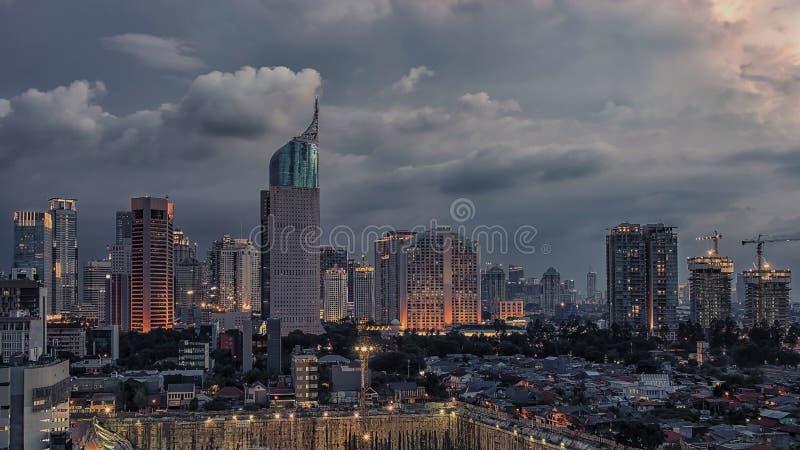 Capitale della città di Jakarta dell'Indonesia fotografia stock