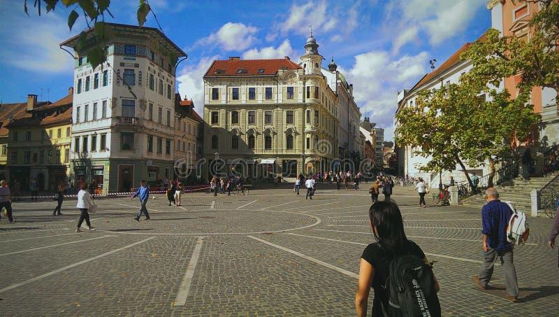 Capitale della Slovenia fotografie stock