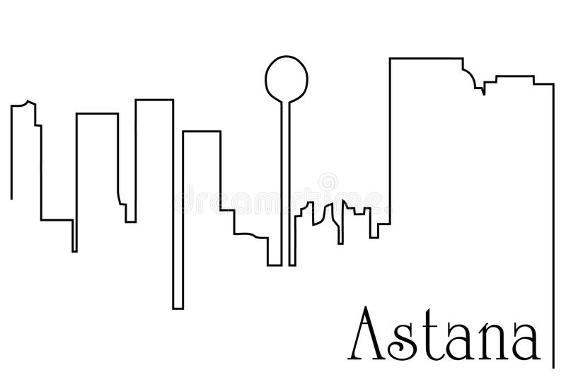 Capitale di Astana royalty illustrazione gratis