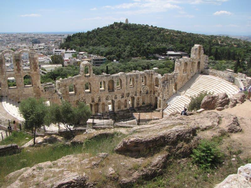 Capitale di Atene della Grecia Eredità dell'umanità sotto la protezione dell'Unesco Civilizzazione del greco antico Area Mediterr fotografia stock