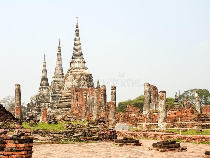 Capitale di Ayutthaya del regno del Siam fotografia stock libera da diritti