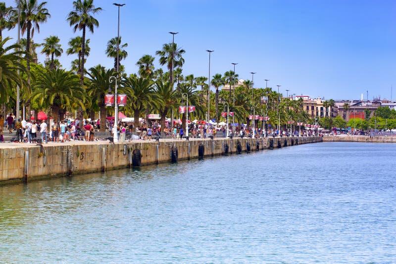 Capitale di Barcellona dell'autonomia della Catalogna fotografia stock