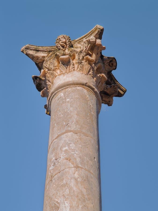 Capitale di colonna romano del teatro fotografie stock libere da diritti