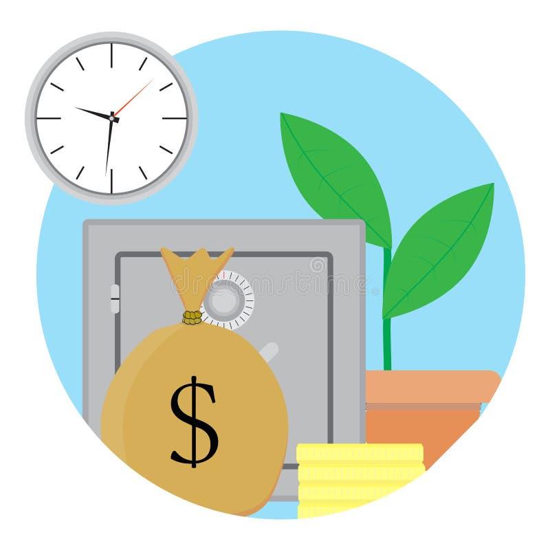 Capitale di crescita e di capitalizzazione illustrazione di stock