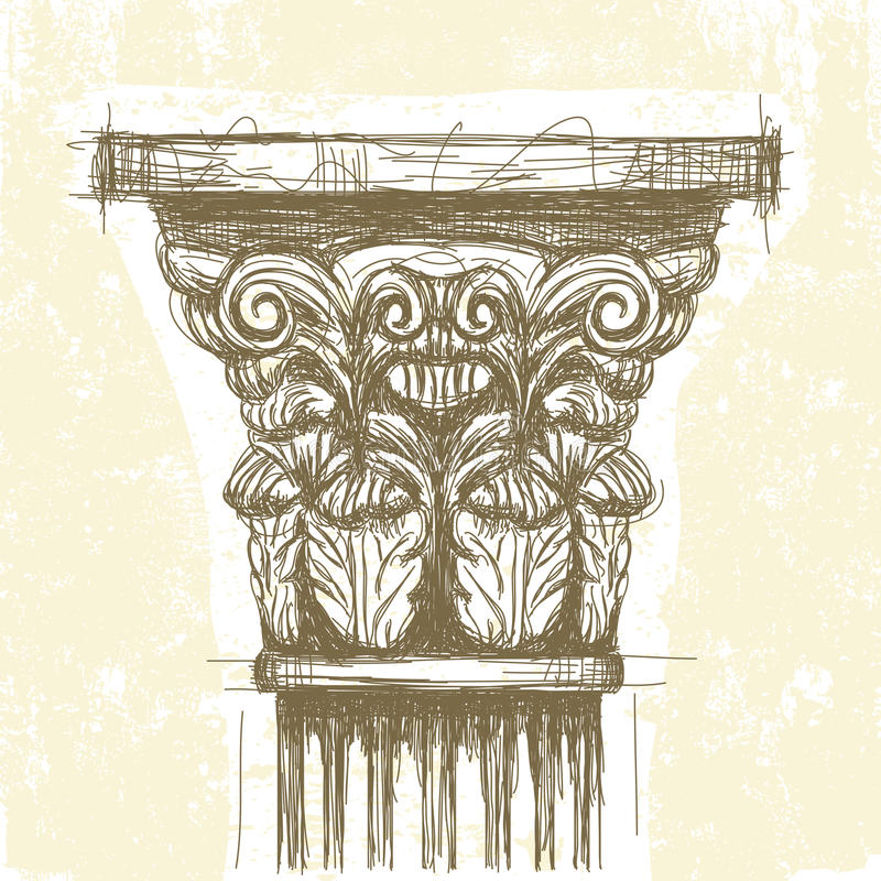 Capitale di Roman Corinthian illustrazione di stock