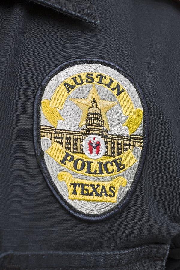 Capitale di Texas Austin Police Badge immagine stock