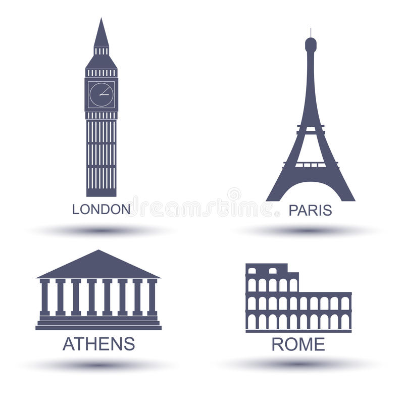 Capitale europea illustrazione di stock