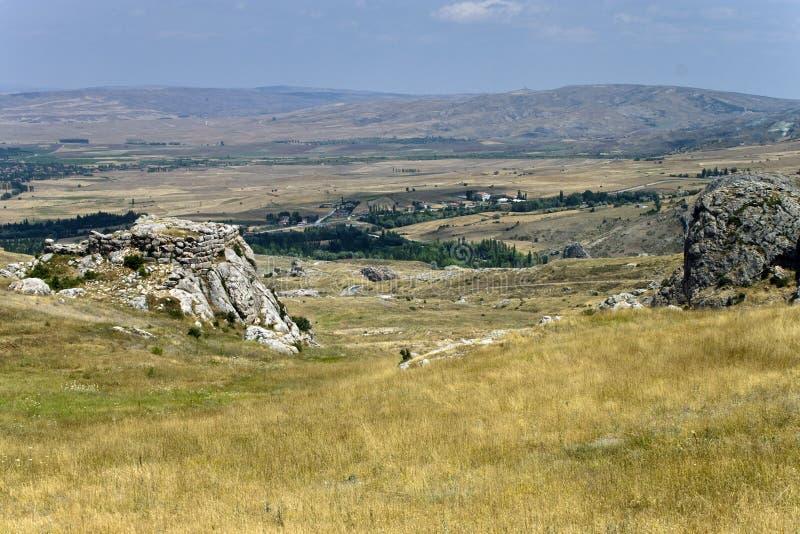 Capitale Hattusa del Hittite fotografia stock libera da diritti