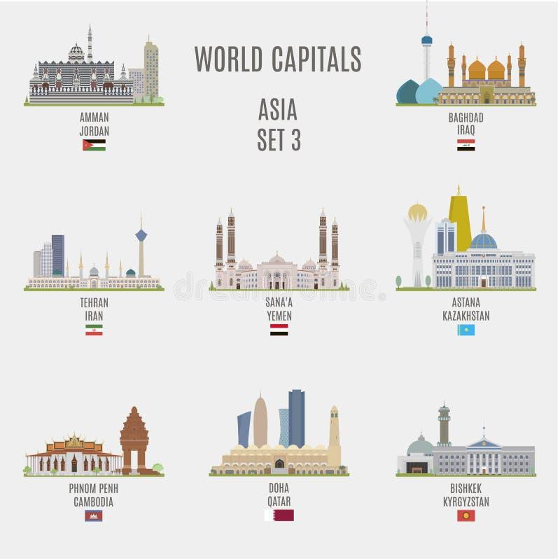 Capitali del mondo royalty illustrazione gratis