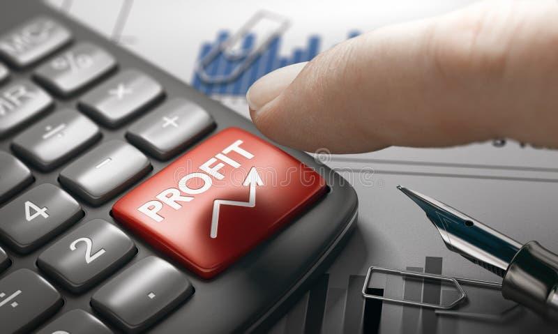 Capitalisme Concept Berekening van de bruto-winst of de winstgevendheid royalty-vrije stock foto