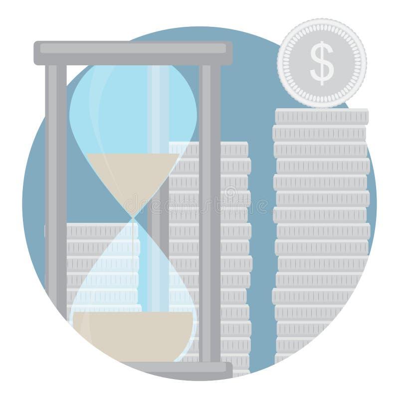 Capitalizzazione dell'icona dei depositi in contanti illustrazione vettoriale