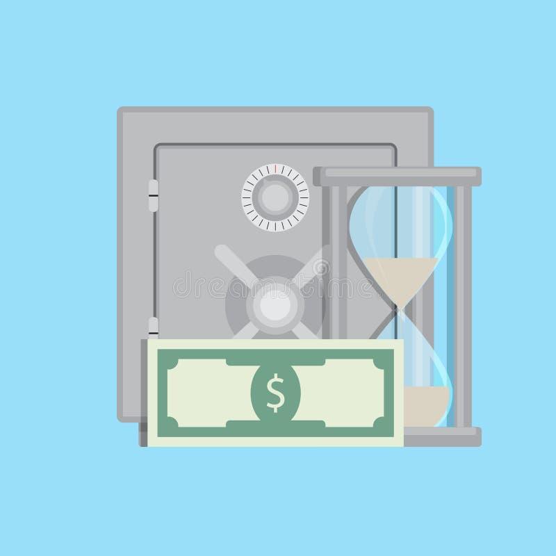 Capitalizzazione nel deposito illustrazione vettoriale