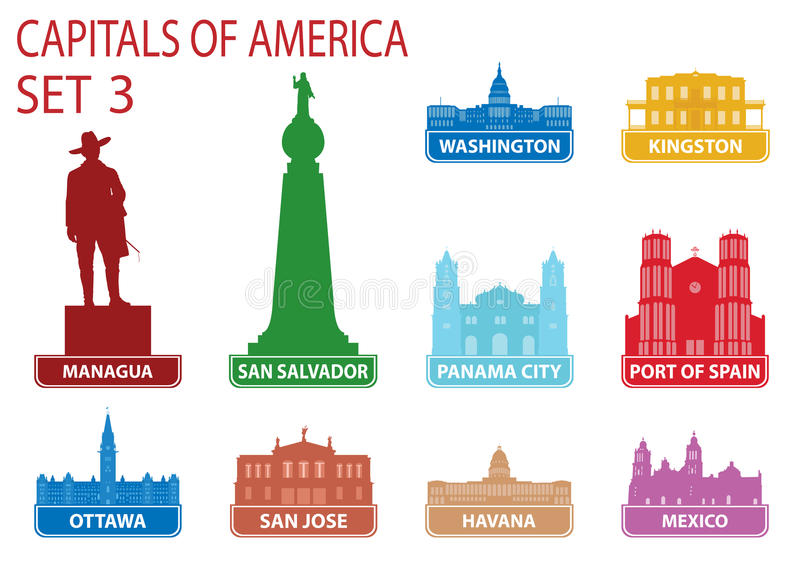 Download Capitals Of America Royalty Free Stock Photos - Image: 28706688