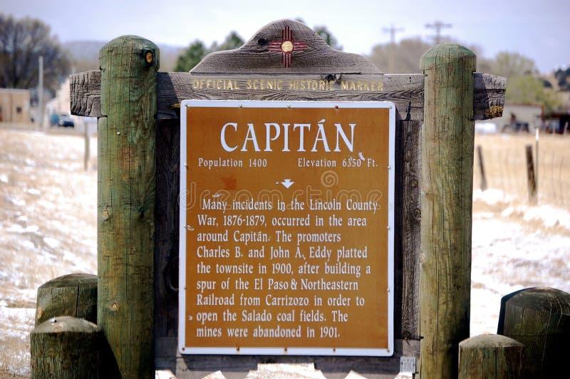 Capitan Nowy - Mexico markier zdjęcia stock